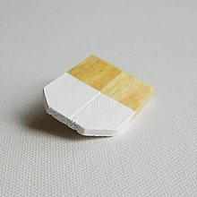Odznaky/Brošne - brošňa Cut's.3 biela - 9615596_