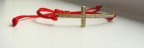Náramky - Náramok s krížikom - 9613411_