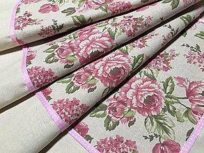Úžitkový textil - obrus ruže - 9614719_