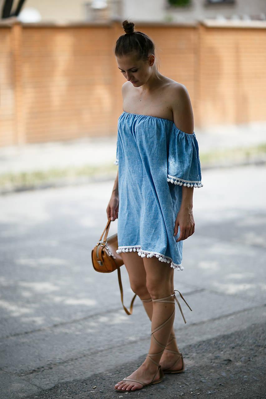 Šaty - Šaty s odhalenými ramenami - 9613313_