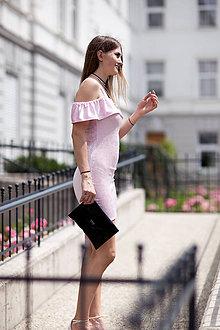 Šaty - Ružové mini šaty - 9613436_