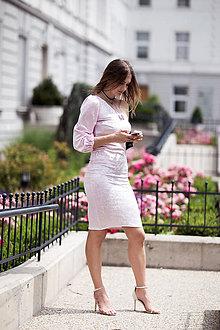 Šaty - Ružové šaty na jedno rameno - 9613564_