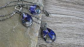 Sady šperkov - Živicová sada s kvietkami - chirurgická oceľ (lúčne kvietky + nezábudky, č. 2200) - 9615023_