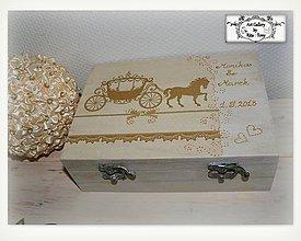 """Krabičky - Svadobná krabica """"Gold"""" :) - 9614320_"""