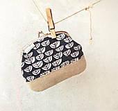 Peňaženky - Peňaženka XL Modrá s grafickými kvetmi - 9614130_