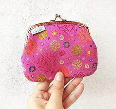Peňaženky - Peňaženka XL Zhluk bodiek - pink - 9612954_