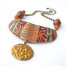 Sady šperkov - Náhrdelník a náušnice Afro - 9611948_