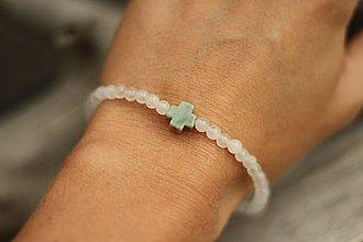 Náramky - Tenký náramok z minerálov jadeit, achát - 9614824_