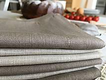 Úžitkový textil - Ľanový obrus s krajkou - 9614596_