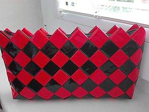 Taštičky - Domino červeno čierna...:) - 9614127_