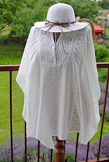 Iné oblečenie - Biele bavlnené pareo - 9615326_