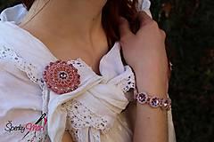 Odznaky/Brošne - brošňa SW antique pink - 9617141_