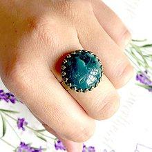 Prstene - Bronze Romantic Kambala Jasper Ring / Bronzový prsteň s jaspisom kambala - 9616669_
