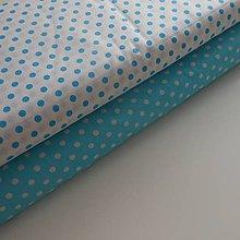 Úžitkový textil - Zástena bez vreciek *Ružovo-Biela* (Tyrkysová) - 9615900_