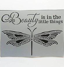 Pomôcky/Nástroje - Šablóna Stamperia - 15x20 cm - vážka, krídla, motýľ, beauty - 9615915_
