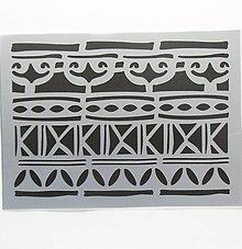 Pomôcky/Nástroje - Šablóna Stamperia - 15x20 cm - etno, indiánske vzory - 9616074_