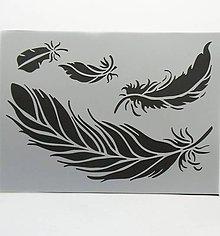Pomôcky/Nástroje - Šablóna Stamperia - 15x20 cm - perie, pierka, fly, let - 9617387_