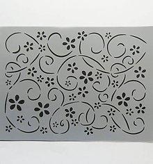 Pomôcky/Nástroje - Šablóna Stamperia - 15x20 cm - kvety, kvetinky, ornament - 9617396_