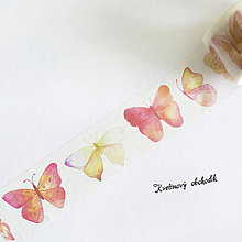 Papier - Washi páska 2,5 cm x 8 m Motýle - 9616111_