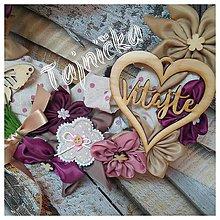 Dekorácie - Venček s drevenými doplnkami - 9618060_