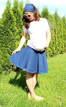 Tehotenské/Na dojčenie - Tehotenská kolová sukňa - vel. XS-M - 299 farebných kombinácií - 9615987_