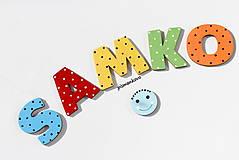 Tabuľky - SAMKO farebné písmenká z dreva - 9618146_