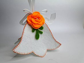 Dekorácie - Zvonček (oranžový) - 9616158_