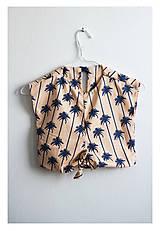 Detské oblečenie - Detské tričko palmy - 9616389_