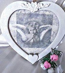 Obrázky - Obrázok na zavesenie - Anjelik v srdiečku - 9616526_