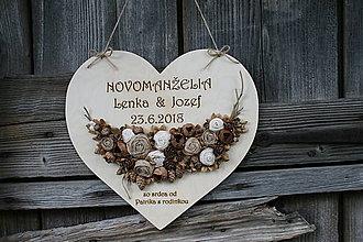 Dekorácie - šiško-srdce24 svadobné - 9617279_