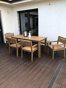 Nábytok - Dubový jedálenský stôl a stoličky - 9616593_