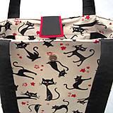 Veľké tašky - Mačičková taška - Miška - 9615975_
