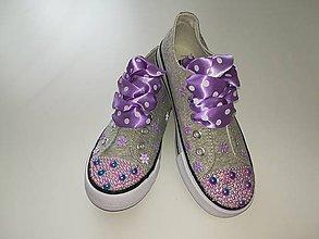 Topánočky - Detské zdobené tenisky - 9616581_
