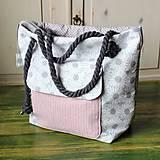 Kabelky - Margarétková kabelka z bavlneného plátna - 9616174_