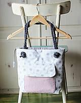 Kabelky - Margarétková kabelka z bavlneného plátna - 9616175_