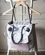 Kabelky - Margarétková kabelka z bavlneného plátna - 9616176_