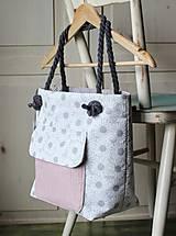 Kabelky - Margarétková kabelka z bavlneného plátna - 9616177_