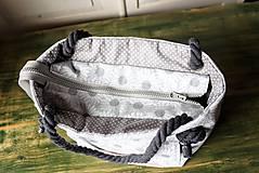 Kabelky - Margarétková kabelka z bavlneného plátna - 9616184_