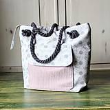 Kabelky - Margarétková kabelka z bavlneného plátna - 9616185_