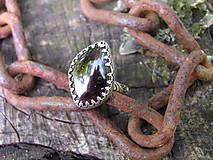 - Strieborny prsteň Ag925 Granát - 9616257_