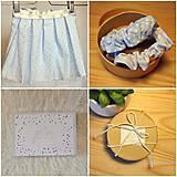 Detské oblečenie - SET pásikavá sukňa a modré gumičky - 9616542_
