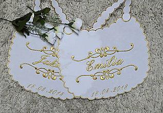 Iné doplnky - svadba -podbradníky vyšívané - 9617357_