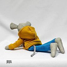 Hračky - Myšiak v žltej mikine - 9618331_
