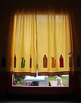 Úžitkový textil - Závesy s ceruzkami a mačkami - 9618262_