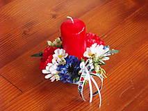 - Folklórna dekorácia so sviečkou pre učiteľku - 9616558_