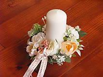 - Dekorácia v pastelových farbách so sviečkou pre učiteľku - 9617096_