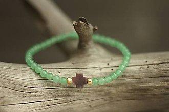 Náramky - Tenký náramok z minerálov jadeit, achát - 9616305_