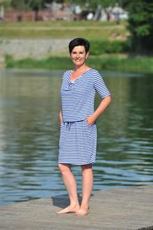 Šaty - BOHO midi šaty univerzální -modré, námornické, vel. S-L - 9616426_
