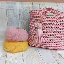 Veľké tašky - LOVE bag - pink&gold - 9618467_