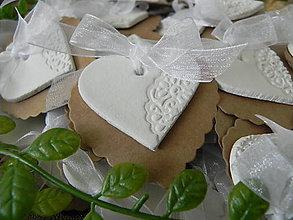Darčeky pre svadobčanov - Prírodné čipkovance pre Vašich najbližších:-) - 9618753_